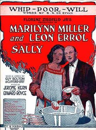Sally (musical) - Sheet music cover