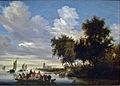 Salomon van Ruysdael - Rivierlandschap met veerboot 001.JPG