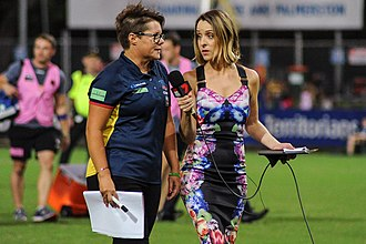 Samantha Lane - Image: Sam Lane interviewing Bec Goddard