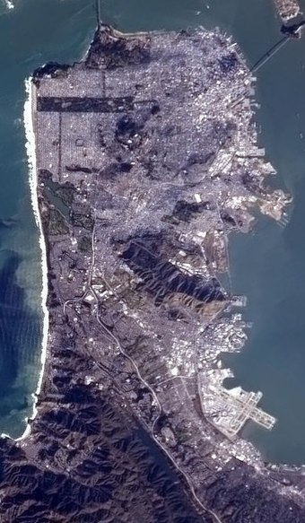 The San Francisco Peninsula SanFranciscoFromTheISS(Cropped).jpg