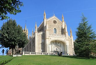 Architecture of Madrid - St. Jerome church, view from the north angle