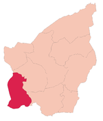 Chiesanuova's location in San Marino