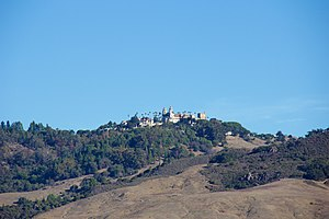 Santa Lucia Range - Hearst Castle was built atop Cuesta Ridge, the first ridgeline in from the ocean in that part of the Santa Lucia range.