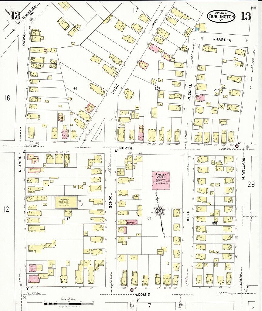 File Sanborn Fire Insurance Map from Burlington Chittenden County