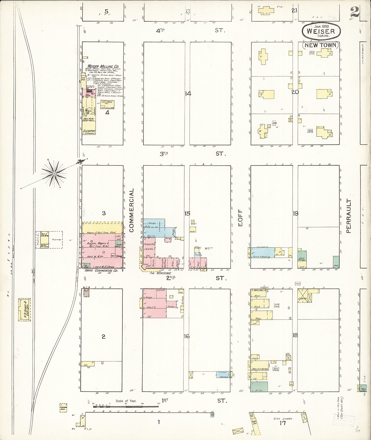 map of weiser idaho File Sanborn Fire Insurance Map From Weiser Washington County map of weiser idaho