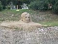 Sand sculpture at the Little Danube Riverbank in Esztergom, Hungary.jpg
