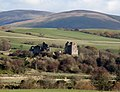 Sanquhar Castle, Nithsdale, Dumfries & Galloway - view from Euchan Bridge.jpg