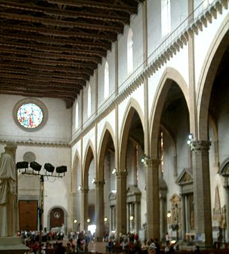 Italian Gothic architecture - The interior of Santa Croce, Florence