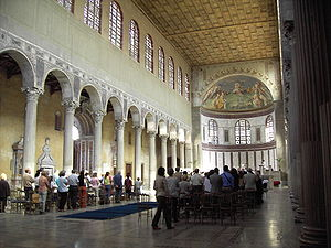 Papal election, 1287–88 - Santa Sabina all'Aventino, near the site of the election