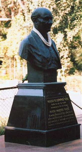 Sardar Vallabhbhai Patel National Memorial - Statue of Patel outside the museum.