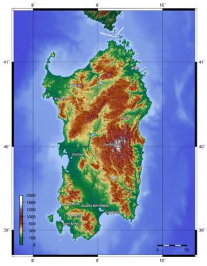 Sardinia topo
