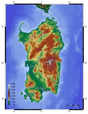 Geografia Della Sardegna Wikipedia