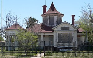 National Register of Historic Places listings in Chaves County, New Mexico - Image: Saunders Crosby house from N 1
