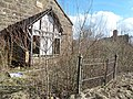 Schaw Kirk or Stair United Free Church, Trabboch, East Ayrshire - wooden porch.jpg
