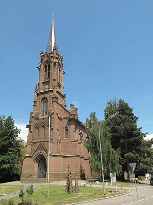 Schopfheim - Image: Schopfheim, die evangelische Kirche foto 2 2013 07 26 13.46