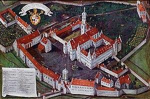 Schussenried Abbey - Image: Schussenried Klosteransicht 1721