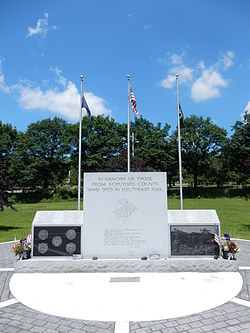 Schuylkill County War Memorial in North Manheim Twp.