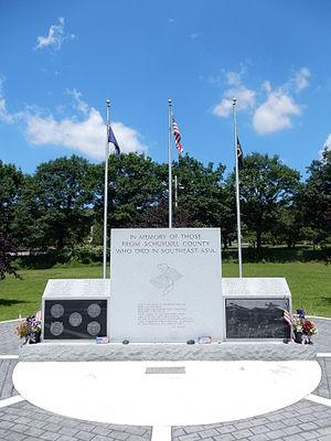 North Manheim Township, Schuylkill County, Pennsylvania - Schuylkill County War Memorial in North Manheim Twp.