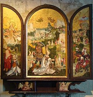 Jerg Ratgeb - Image: Schwaigern barbara altar 2