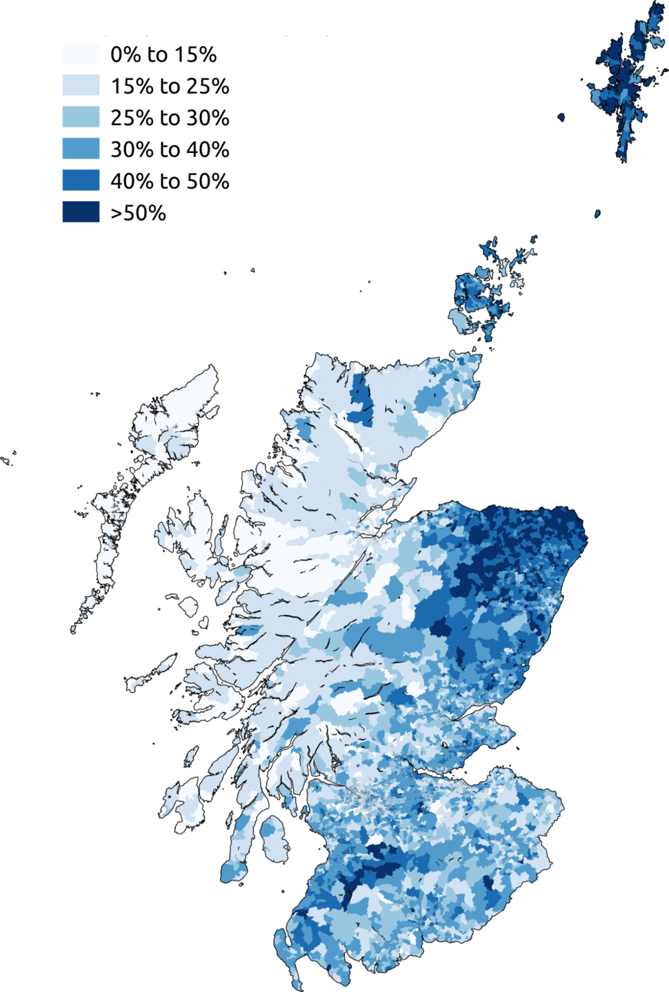 Scots speakers in the 2011 census