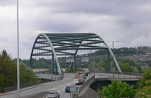 Scotswood Bridge - Image: Scotswood Bridge Side 2008