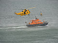 Sea King and Plymouth lifeboat, Plymouth Airshow 2010 3.jpg