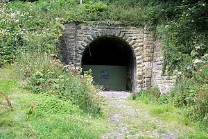 Whitby, Redcar and Middlesbrough Union Railway - Blocked Kettleness tunnel, 2005