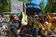 Sean Chambers visits the crowd at the 2014 Wanee Festival in Live Oak, FL.jpg