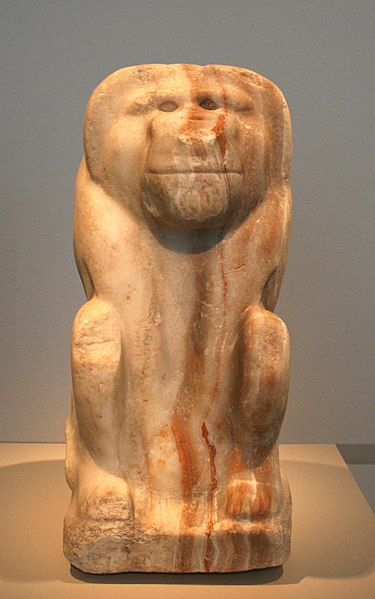 File:Seated figure of a baboon with the cartouche of king Narmer.jpg
