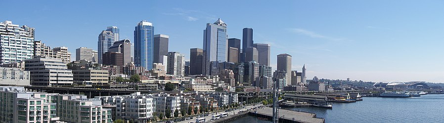 Seattle downtown panoramic from Pier 66.jpg