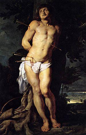 St Sebastian (Rubens) - Image: Sebastian rubens