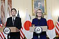 Secretary Clinton Delivers Remarks With Japanese Foreign Minister Kishida (8392654641).jpg
