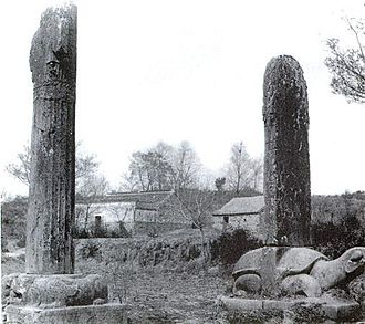 Victor Segalen - Segalen's photo of statuary near Xiao Xiu's tomb (1917)