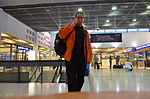 Self portrait in airport of Turku.JPG
