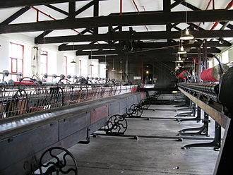 Leeds Industrial Museum at Armley Mills - The spinning mule at Armley Mills Industrial Museum