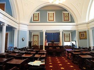 North Carolina Democratic Party - Old Senate Chamber of North Carolina, used until 1963 construction of separate state legislative building