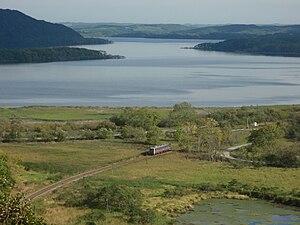 Senmō Main Line - Senmo line near Lake Tōro