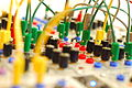 Serge modular synthesizer & patching cables, Hamburger Soundstammtisch, March 2011.jpg