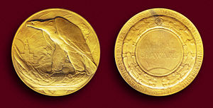 Sesquicentennial Exposition - The Gold Medal of Award sculpted by Albert Laessle.