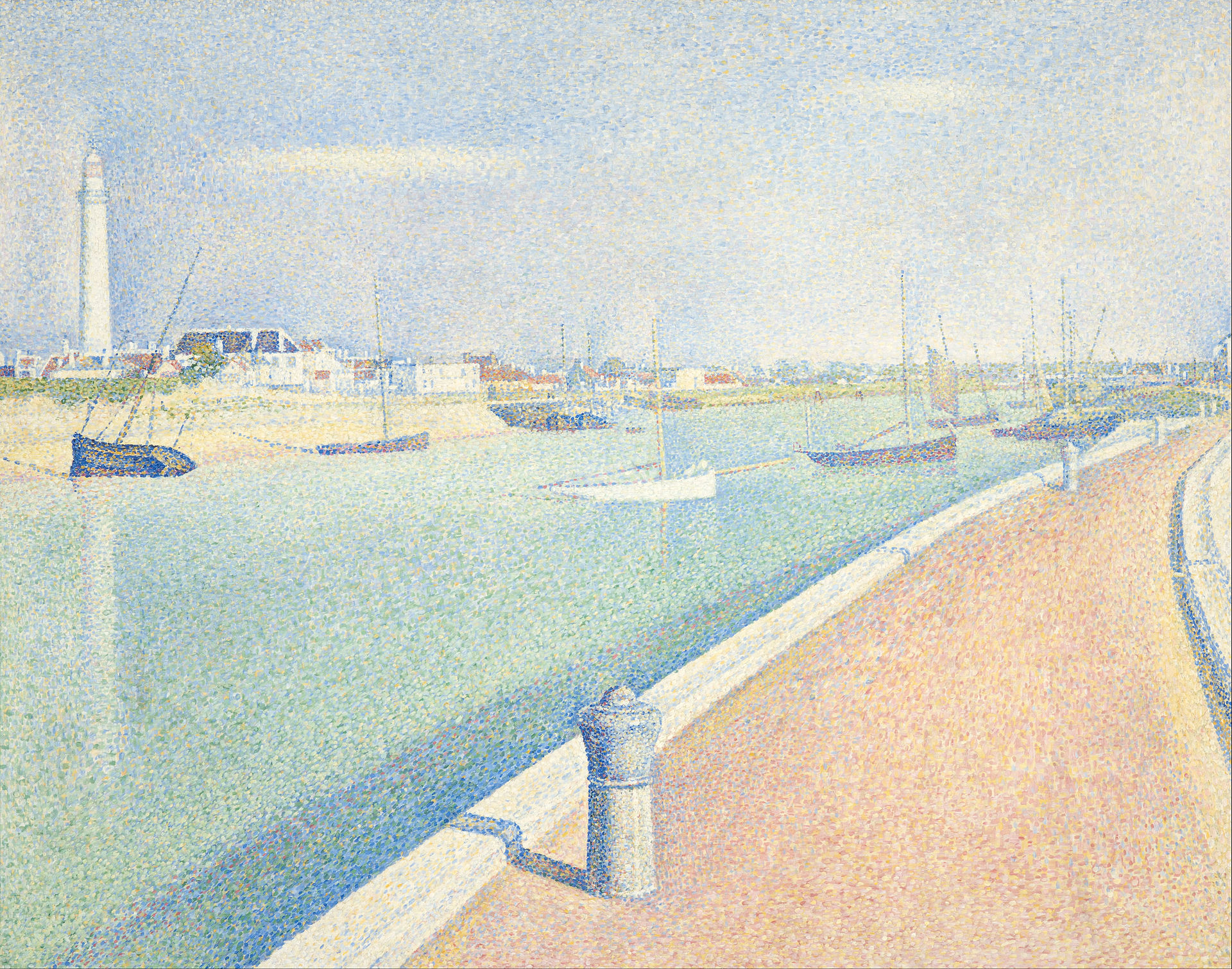 Seurat, Georges - The Channel of Gravelines, Petit Fort Philippe - Google Art Project.jpg