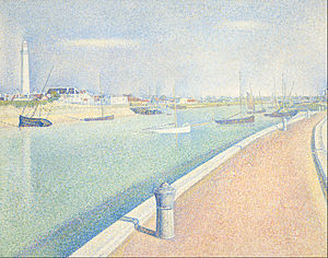 The Channel of Gravelines, Petit Fort Philippe - Image: Seurat, Georges The Channel of Gravelines, Petit Fort Philippe Google Art Project
