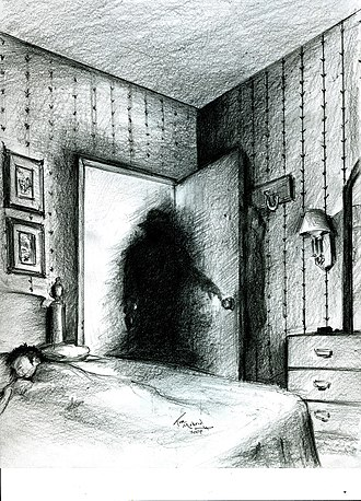 Shadow person - An artist's impression of a shadow person as a paranormal entity