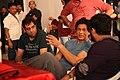 Shahrukh Khan, Adnan Safee and Bappaditya Roy. On the sets of Hyundai i15.jpg