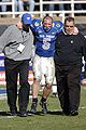 Shaun Carney helped off the field at 2007 Armed Forces Bowl 071231-F-0558K-008 0YKNL.jpg
