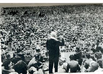 Sheikh Abdullah - Sheikh Abdullah addressing a mammoth gathering at Lal Chowk Srinagar in 1975