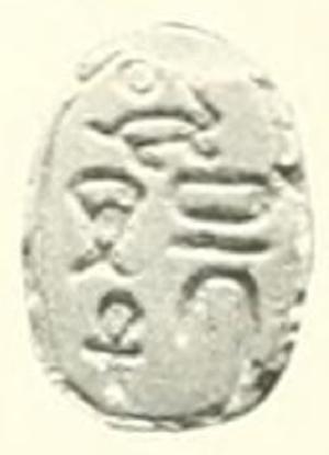 Sheneh (pharaoh) - Image: Sheneh scarab 2