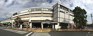 Shin-Kiba Station Railway and metro station in Tokyo, Japan