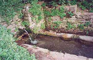 Groundwater - Dzherelo, a common source of drinking water in a Ukrainian village