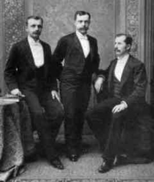 Seymour H. Knox I - Knox (center) with Frank and Charles Woolworth