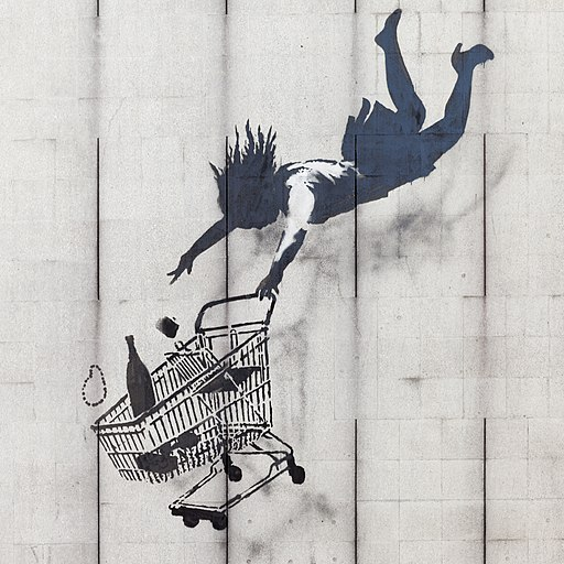 Shop Until You Drop by Banksy